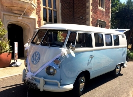 Splitscreen Campervan for wedding hire in Hastings